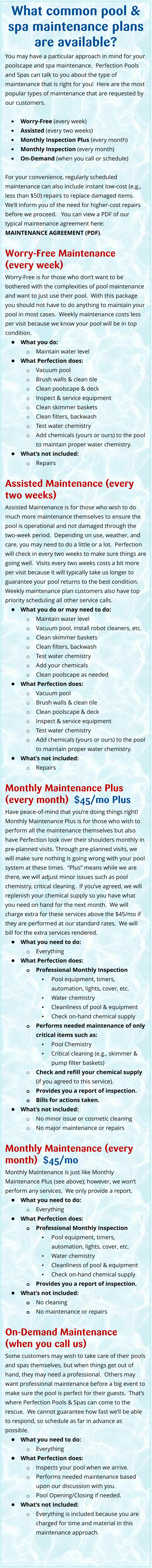 Pool And Spa Maintenance Albuquerque And Rio Rancho Areas